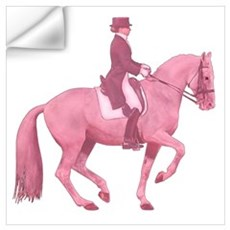 Pink Dressage Horse Wall Decal