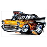 1957 chevy Wrapped Canvas Art