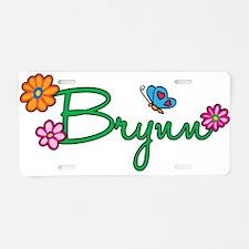 Brynn Flowers Aluminum License Plate