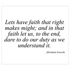 Abraham Lincoln quote 69 Poster