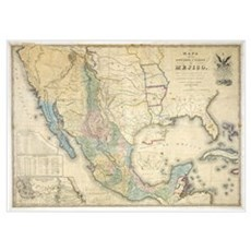 of Disturnell map of Mexico Poster