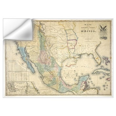 of Disturnell map of Mexico Wall Decal