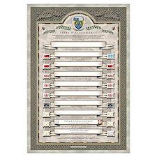Mini affche 11x17 - Titre d'ascendance 9 boîtes