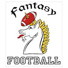 Fantasy Football Unicorn Poster