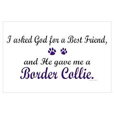 God Gave Me A Border Collie Poster