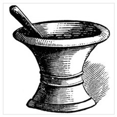 Mortar and Pestle Framed Print