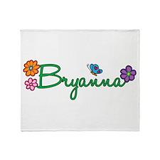Bryanna Flowers Throw Blanket