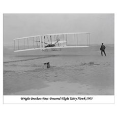 Wright Bros at Kitty Hawk 190 Poster