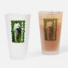 Samoyed In Grass Drinking Glass