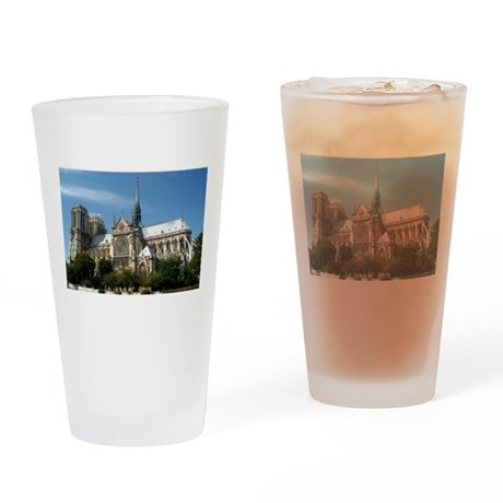 Notre Dame Drinking Glass