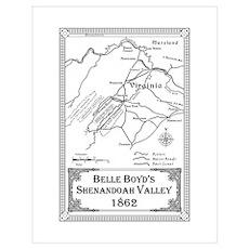 Belle Boyd' Map 1862 Poster