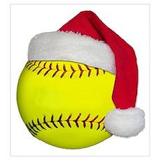 Softball Santa Poster