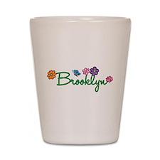 Brooklyn Flowers Shot Glass