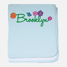 Brooklyn Flowers baby blanket