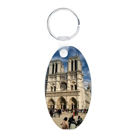 Notre Dame Aluminum Oval Keychain
