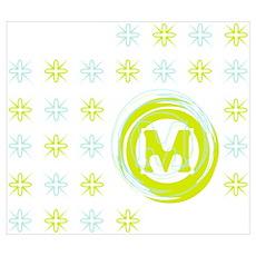 "Monogrammed ""M"" Poster"