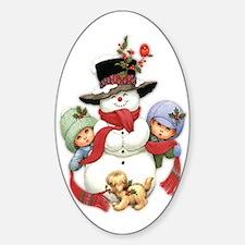 Snowman w/ Kids Decal