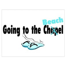 Going To The Chapel (Beach) Poster