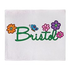 Bristol Flowers Throw Blanket