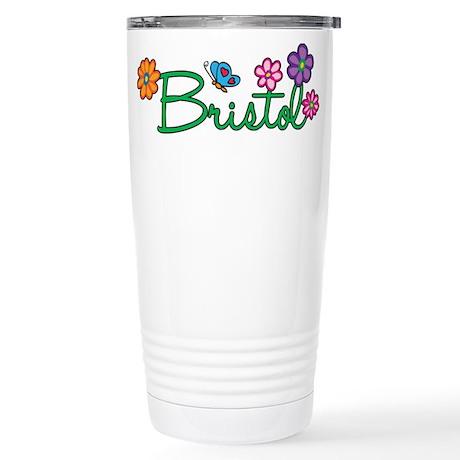 Bristol Flowers Stainless Steel Travel Mug