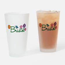 Bristol Flowers Drinking Glass