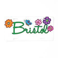 Bristol Flowers Aluminum License Plate