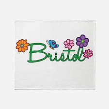 Bristol Flowers Throw Blanket