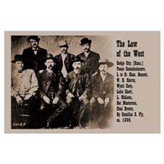 Law of the West Print Poster
