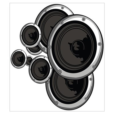 Speaker Wall Canvas Art
