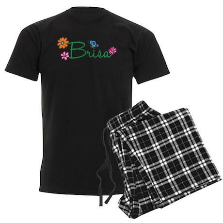 Brisa Flowers Men's Dark Pajamas