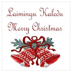 Lithuanian Christmas Poster