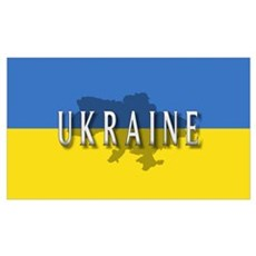 Ukraine Flag Extra Canvas Art