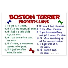 Boston Terrier Property Laws 2 Poster