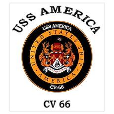 USS America CV-66 Poster
