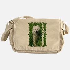 Samoyed In Grass Messenger Bag