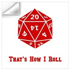 20 Sided Roll Wall Decal