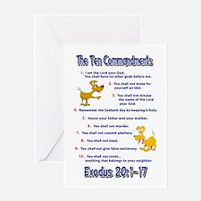 Ten Commandments Greeting Card