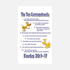 Ten Commandments Sticker (Rectangle)