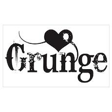 Love Grunge Poster