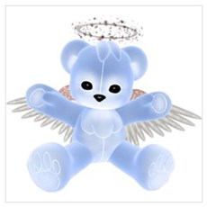 BLUE ANGEL BEAR Canvas Art