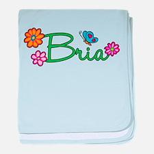 Bria Flowers baby blanket