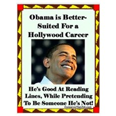 """""""Obama the Actor"""" Poster"""