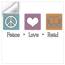 Peace Love Read Wall Decal