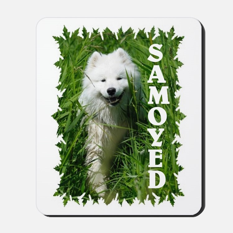 Samoyed In Grass Mousepad
