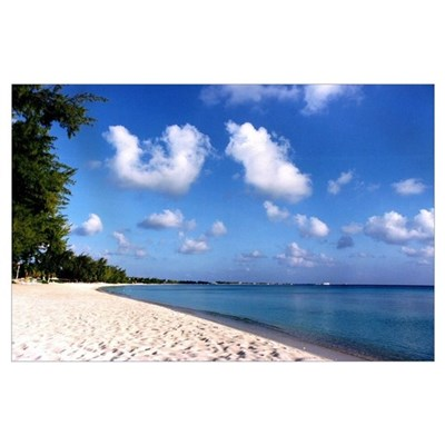Seven Mile Beach Grand Cayman Poster