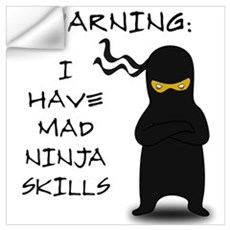 Mad Ninja Skills Wall Decal