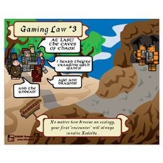 Gaming Law #3 Comic Canvas Art