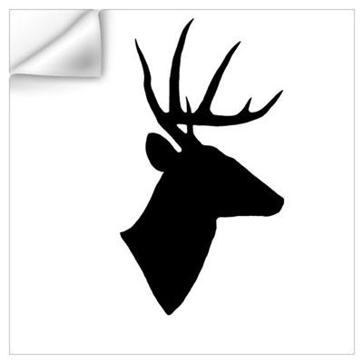 Whitetail Deer Silhouette Wall Decal