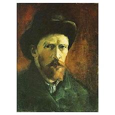 Self Portrait with Dark Felt Hat Small Framed Prin Poster