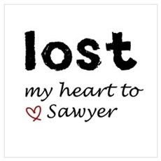 LOST my heart to Sawyer Framed Print